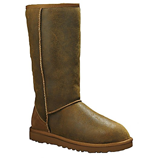 Ski UGG Australia Classic Tall Bomber Womens Boots - The UGG Australia Classic Tall Bomber Boots is one of the brand's most beloved and it's easy to see why. The Cuffable Twinface Sheepskin is weathered and bomber finished to give an outstanding and beautiful look and appeal. The casual style which includes sueded heel guards, nylon binding and Signature UGG Woven Label is the epitome of elegance. The interior is a genuine Sheepskin Sock that has cushy foam for added comfort. The sheepskin will wick moisture away naturally so your feet will remain cozy and dry all day. Classic style and an icon in the UGG line, the UGG Australia Classic Tall Bomber Boots are your way to stay warm and look good wherever you go when those temperatures start to drop. . Warranty: One Year, Waterproof: No, Material: Grade A Twinface Sheepskin, Type: Boot, Insulated: No, Sole Material: Molded EVA, Model Year: 2013, Product ID: 286500 - $220.00