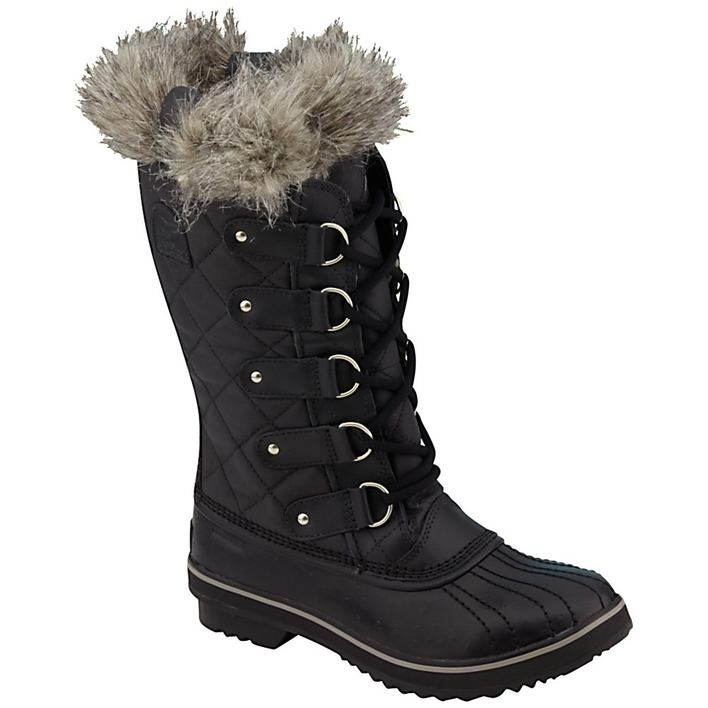 Ski Sorel Tofino CVS Womens Boots - After a long day on the mountain, nestling up to a cozy fire in the lounge or at the local hot spot sounds like a good time. Make sure to dress in style and look amazing with a pair of Sorel Tofino CVS Womens Boots. Designed with a leather shell you'll have a waterproof boot to help keep the snow and slush from seeping into the boot. A Waxed Canvas Upper ensures that you have very comfy and cozy feet even in the coldest of conditions. For a sophisticated look the next time you head out on a winter's eve, make sure you're wearing the stylish Sorel Tofino CVS Womens Boots. . Warranty: Other, Waterproof: Yes, Material: Waxed Canvas Upper with Leather Overlays, Type: Boot, Insulated: No, Model Year: 2013, Product ID: 291218 - $150.00
