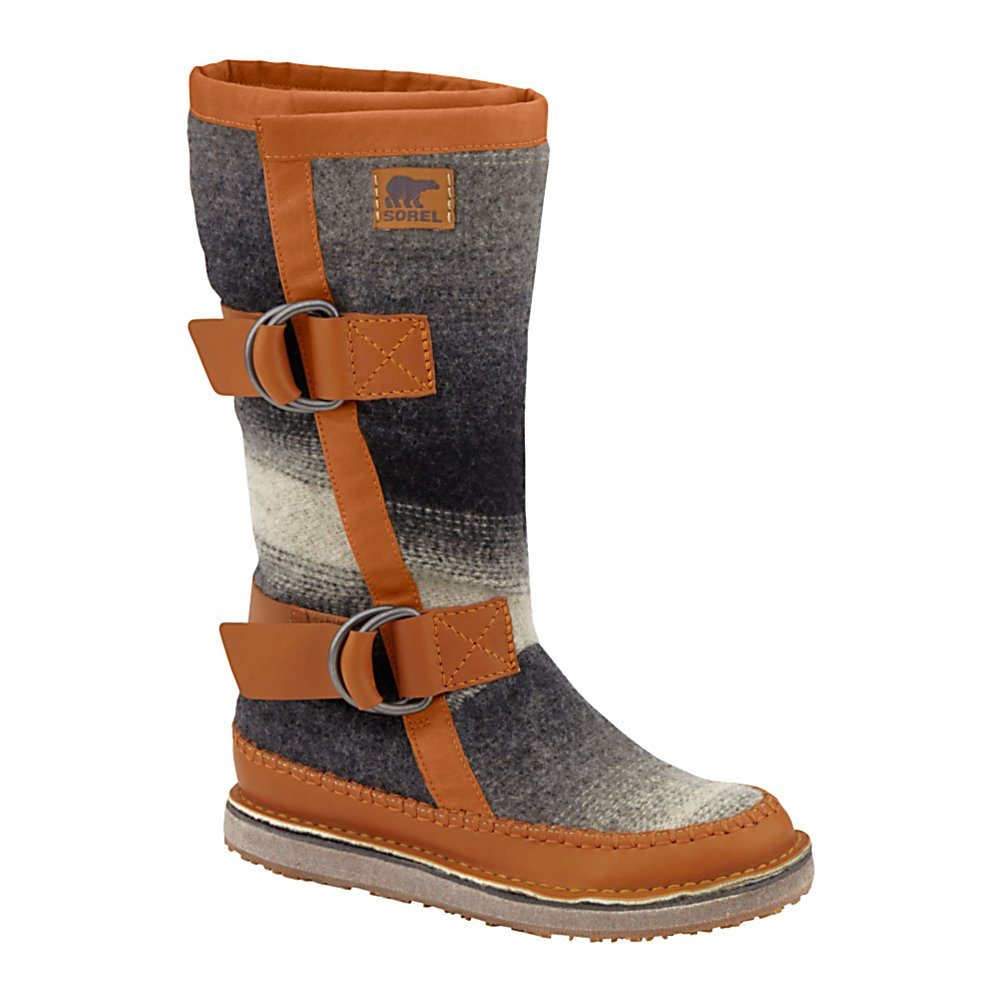 Ski Sorel Chipahko Blanket Womens Boots - There is a reason why Sorel has used wool in its removable liners for decades. The thermal regulating properties of wool are unparalleled. They keep your feet warm when it's cold and cool when it's warm. The Chipahko Blanket boot from Sorel provides all of these benefits plus the undeniable comfort of a wool blanket stylishly wrapped around your feet. No really, it's an actual woven wool blanket. The wool upper is water and stain resistant with full-grain leather overlays. Pressed felt midsole provides cushioning for all day comfort. Molded rubber outsole is durable so start walking. Spoil your feet by wrapping the Sorel Chipahko Blanket around your feet. . Warranty: One Year, Waterproof: No, Material: Wool Upper with Full-Grain Leather Overlays, Type: Boot, Insulated: No, Sole Material: Rubber, Model Year: 2013, Product ID: 291258 - $159.95