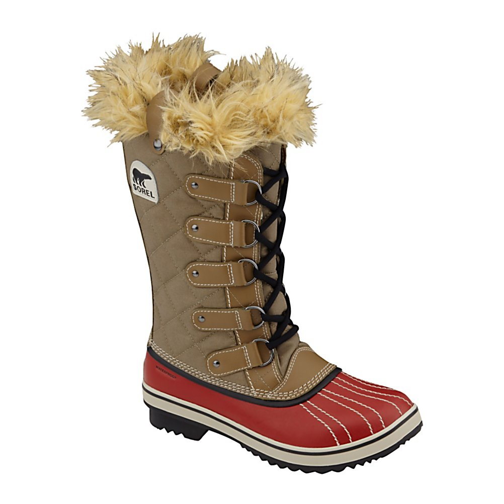 Ski Sorel Tofino Womens Boots - The Sorel Tofino gives you sleek and sophisticated style with the comfort and versatility of a sneaker. The Tofino also offers the protection of a Sorel boot providing both waterproof warmth with runway fashion. See a puddle on the ground? You don't have to wait for someone to lay their coat over it. Tread through knowing that the Tofino is waterproof. Waxed canvas upper with leather overlays and a leather shell fuse durability with fashion. And you thought the Sorel Tofino was just another pretty face. . Warranty: One Year, Waterproof: Yes, Material: Waxed Canvas Upper with Leather Overlays, Type: Boot, Insulated: No, Sole Material: Rubber, Model Year: 2013, Product ID: 291278 - $99.95