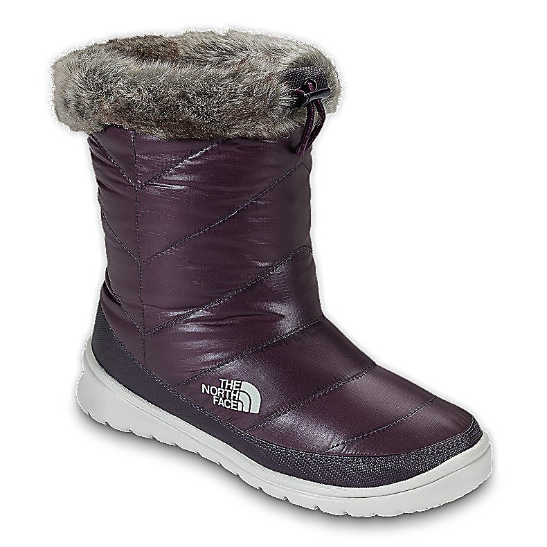 Ski The North Face Skylla WP Womens Boots - The North Face Skylla WP Boots are a durable new winter boot that keeps your feet dry and warm while you're shuffling through wintery sludge. The water-resistant ripstop upper boasts a shine exterior, and a plush faux fur collar for lux comfort. Ample PrimaLoft insulation delivers crucial wintertime warmth. Bungee cord cinch at collar keeps the warmth in and doesn't allow the cold to sneak in. The North Face Skylla Boot fuses fashion and function in this comfortable winter boot bringing you the ultimate in looks and protection. Features: Cushioned, abrasion-resistant, injection-molded EVA midsole/outsole, IcePick temperature-sensitive rubber pods for increased traction, Durable, water-resistant, element-shedding 100% recycled P.E.T ripstop upper, 200 g PrimaLoft Eco insulation. Warranty: Lifetime, Waterproof: Yes, Material: 100% Recycled P.E.T Ripstop upper, Type: Boot, Insulated: Yes, Sole Material: Rubber, Model Year: 2013, Product ID: 297296, Shipping Restriction: This item is not available for shipment outside of the United States., Model Number: AYCNA8D-7, GTIN: 0053329478432 - $59.91