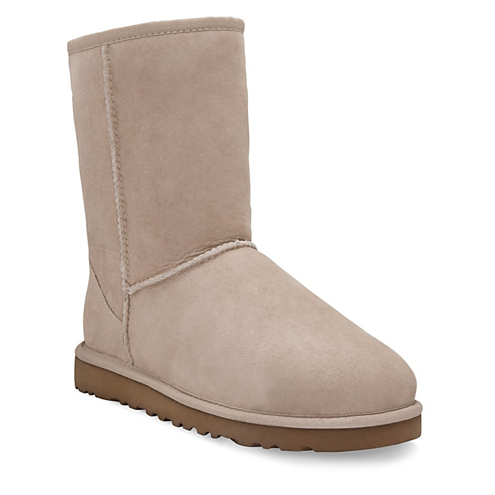 Ski UGG Australia Classic Short Womens Boots - Exude confidence and style with every step you take in UGG Australia's Classic Short boot. Each boot is fully lined in plush, luxurious fleece and is surrounded by the highest quality twin-face sheepskin outer. Precision craftsmanship is evident in the reinforced heel, raw seams and signature UGG Australia label. The outer of this boot compliments the inner with elegance. Now so does yours. . Warranty: One Year, Waterproof: No, Material: Twinface Grade A Sheepskin, Type: Boot, Insulated: No, Sole Material: Light and flexible molded EVA, Model Year: 2013, Product ID: 57802 - $155.00