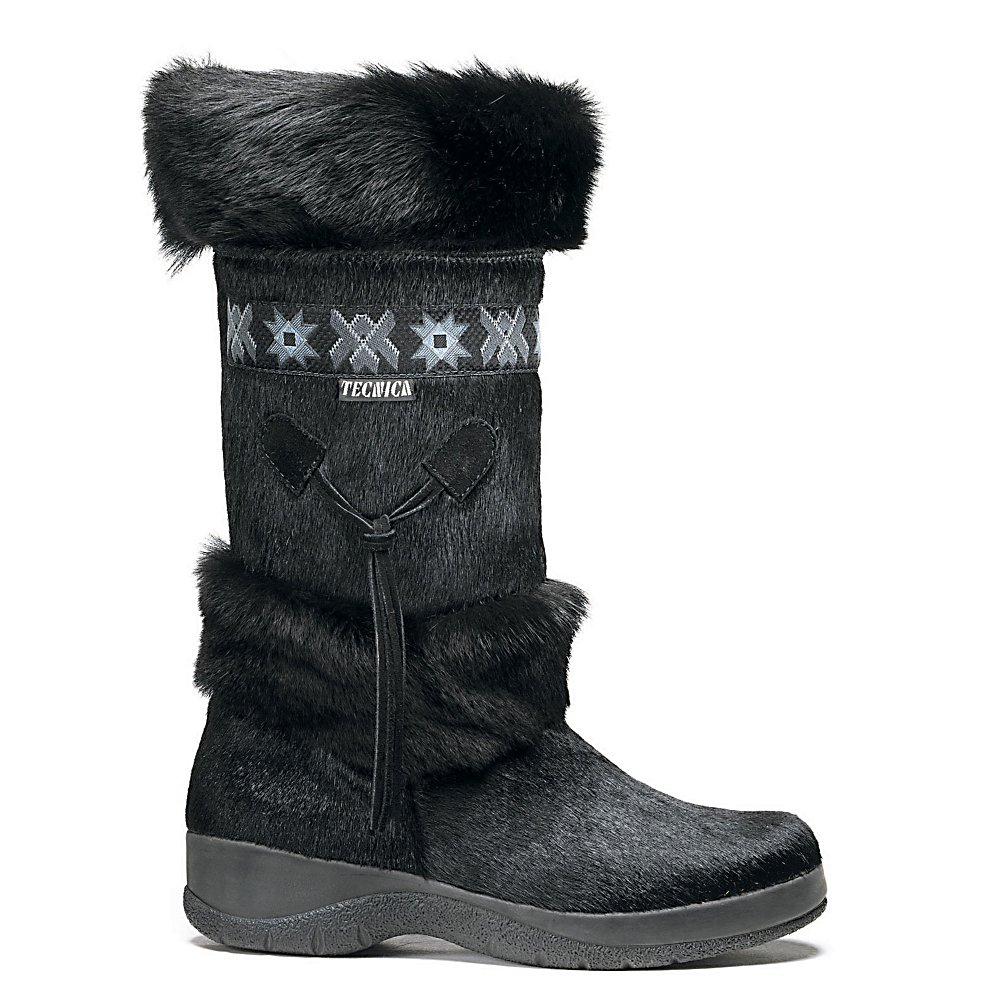 Ski Tecnica Skandia Fur Womens Boots - There aren't too many boots out there that let the world know you mean business. Tecnica's Skandia Fur is one of those boots. With a goat and bovine fur upper for years of comfort and durability, this stylish footwear puts you in the driver's seat. Make a scene with every step. The boots are made from bovine fur and goat fur while the inner is wool shearling. . Warranty: Other, Waterproof: No, Material: Bovine fur, Type: Boot, Insulated: Yes, Sole Material: Rubber, Model Year: 2015, Product ID: 65167, Model Number: 25018900 001 6.5, GTIN: 0823490286712 - $400.00