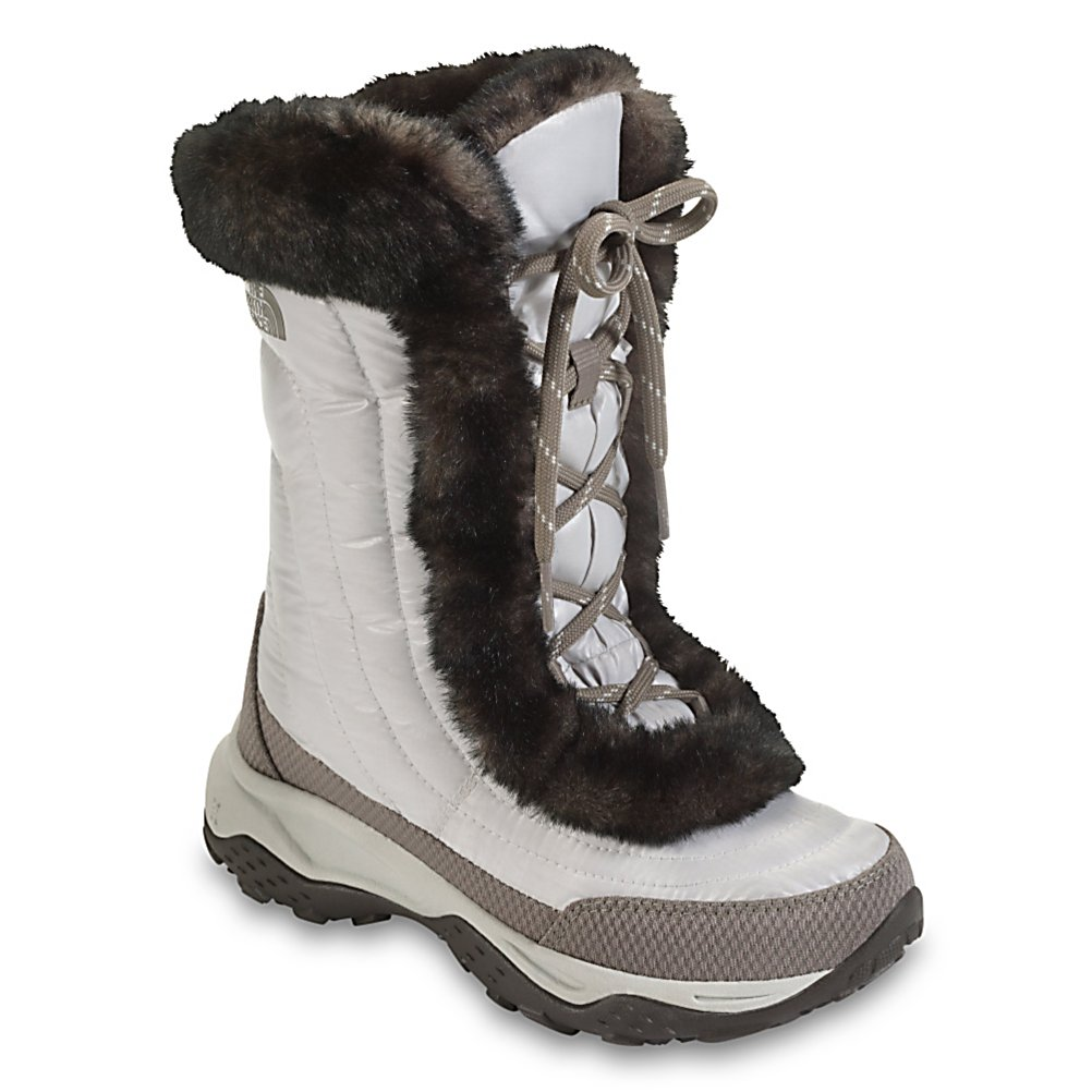 Ski The North Face Nuptse Fur II Girls Boots - A girl should never sacrifice comfort for style which is why the North Face Nuptse Fur II Boots are the cute and fashionable way to stay warm when those temperatures drop. Made for everyday use, the Nuptse has durable, water-resistant, element-shedding 100% Recycled P.E.T. Ripstop Upper to ensure that the chill and snow remains on the outside. The plush Faux Fur Lining and 500 Fill Power Down Insulation keeps your toes warm and toasty all day long. On the bottom of the Nuptse Boot is the Winter Grip Rubber Outsole keeping the rubber sole soft when it's cold outside and, combined with the Compression-Molded EVA Midsole, each step you take will be cushioned under this lightweight bottom of the boot. Delivering warmth and comfort in an adorable design every girl will love, the North Face's Nuptse Fur II Boots will surely become your winter walk-around favorite. Features: Abrasion-Resistant Rand, Midfoot Nylon Shank, Compression-Molded EVA Midsole. Warranty: Lifetime, Waterproof: No, Material: Element-Shedding 100% Recycled P.E.T. Ripstop Upper, Type: Boot, Insulated: Yes, Sole Material: TNF Winter Grip Rubber Outsole, Model Year: 2013, Product ID: 232074, Shipping Restriction: This item is not available for shipment outside of the United States. - $44.95