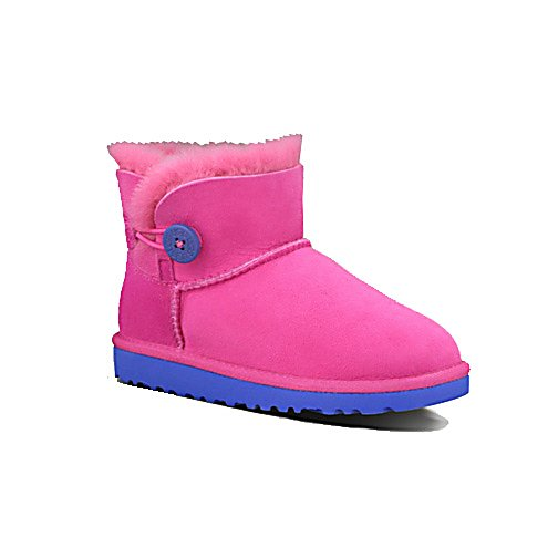 Ski UGG Australia Mini Bailey Button Girls Boots - The Ugg Kids Mini Bailey Button Boots for girls are too cute with adorable details, durable construction, and added foam for all-day comfort. Keeping your little girl warm, cozy and looking precious is what The Mini Bailey Button Boots provide. Naturally keeping toddler feet toasty and dry, they give your child the ability to be in the cold outdoors and like it. The suede exterior is easy to keep clean and preserved to last with your child's wear and tear. Looking like the big girls - your little one will look too cool as she stays warm and dry. . Warranty: Other, Waterproof: No, Material: Suede/Shearling/rubber, Type: Boot, Insulated: Yes, Sole Material: Rubber, Model Year: 2013, Model Number: 1000788Y FUS 05, GTIN: 0737872864880, Product ID: 286547 - $69.91