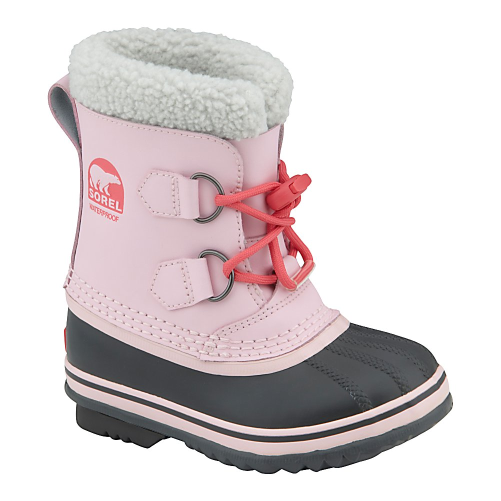 Ski Sorel Yoot Pac Girls Boots - The Yoot Pac is a classic Sorel waterproof boot with a removable liner, this versatile pack boot can be used for everything from throwing snowballs to walking to school. Seam-sealed waterproof construction keeps your girl's feet dry so she can walk through the snow in confidence. Removable 9mm washable felt InnerBoot provides comfort and is recycled for an Earth-friendly appeal. Sherpa Pile snow cufff locks the snow out. Handcrafted waterproof vulcanized rubber shell with herringbone outsole is ultra durable and provides the traction your girl needs. Pick up the Sorel Yoot Pac and rest easy when your girl is enjoying the winter outdoors. . Warranty: One Year, Waterproof: Yes, Material: PU Coated Leather Upper, Type: Boot, Sole Material: Herringbone, Model Year: 2013, Product ID: 291332 - $49.95