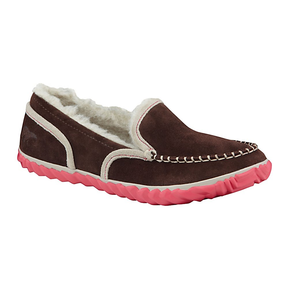 Entertainment Sorel Tremblant MOC Womens Slippers - The Tremblant slipper-shoe offers Sorel comfort and warmth whether you're indoors or out. The Tremblant Moc is a great slipper-shoe to be worn for comfort at home or on the way to class for the final exam. Suede upper looks snazzy and durable. The wool/acrylic blend liner is super comfy so slide your feet in and relax. The removable molded EVA comfort footbed provides the cushioning while the rubber outsole provides traction. The Tremblant has the type of comfort only Sorel can provide. . Warranty: One Year, Waterproof: No, Type: Slipper, Insulated: No, Sole Material: Rubber, Model Year: 2013, Product ID: 291268, Material: Suede Upper on EVA Sole - $59.95