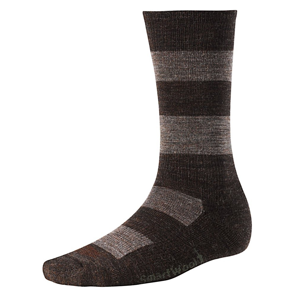 Ski SmartWool Double Insignia Socks - New to the SmartWool collection are the Insignia Socks. These socks are created for a stylish and casual man looking to please his feet. These SmartWool socks are created with several features along with a fashionable look. The stripes give the socks sophistication with snazz, due to the great technology used to create these socks. The Double Insignia Socks also have a special SmartWool technology called WOW Technology, which stands for wool on wool. WOW adds an additional layer of SmartWool to protect the heel and forefoot against shock and abrasion. But wait! There's more! Everyone knows socks can make your feet a little hot sometimes. Well, with the Double Insignia socks, you will not have that problem. They are built with strategic mesh zones for maximum ventilation. Adding to the comfort level of the sock is the included cushion and the supportive arch and ankle brace. Features: Wool has Natural Wicking Properties. Warranty: One Year, Battery Heated: No, Material: Wool/Synthetic Blend, Waterproof: No, Type: Lifestyle, Weight: Mid, Material: Wool, Nylon and Elastane, Type: Sock, Insulated: No, Sole Material: Merino Wool, Model Year: 2013, Product ID: 200915 - $20.95