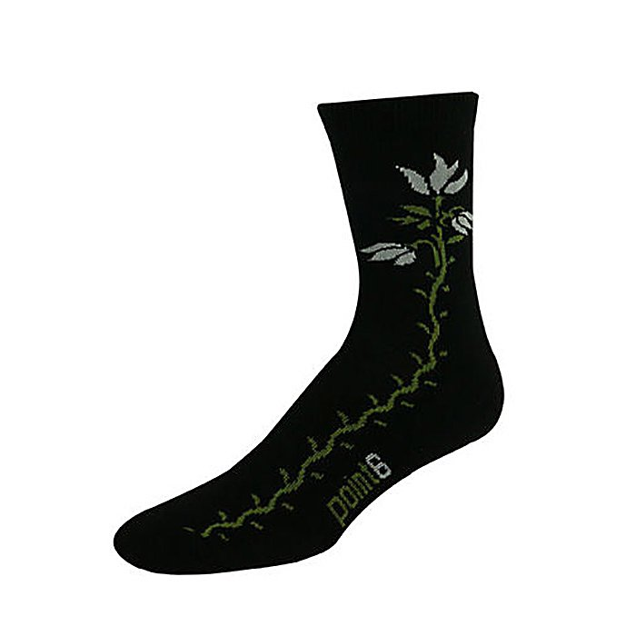 Snowboard Point6 Tulip Light 3/4 Crew Womens Socks - The Point6 Tulip Light 3/4 Crew Sock is anatomically precise with construction that provides longwearing cushioning where needed most, without bulk so the Tulip 3/4 Crew sock can be worn for casual wear or sports. Temperature regulating, moisture controlling merino wool keeps your feet warm and dry. This Tulip Light 3/4 Crew Sock by Point6 provides you with special cushioned Achilles pad that holds heel down in boot and it embraces your foot reassuring you of the most comfortable fit. The 3/4 length is a bit short to wear skiing or snowboarding, but is great for inline skating, cross country skiing or snowshoeing. Features: Ultra Smooth, Hand Looped Toe Seam, 65% Merino Wool, 33% Nylon and 2% Spandex. Warranty: One Year, Waterproof: No, Material: Merino Wool, Type: Socks, Insulated: No, Sole Material: N/A, Model Year: 2011, Product ID: 202564, Weight: Light, Type: Lifestyle, Material: Wool, Battery Heated: No - $9.95