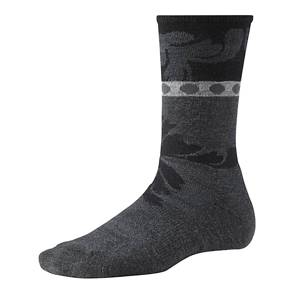Ski SmartWool Reflections Leaf Womens Socks - The SmartWool Reflection Leaf Womens Socks are very comfy and cozy while also looking very cute on your feet. Made with soft Merino Wool the Reflection Leaf features WOW Technology in the high impact heel and foot zones to make them more durable and comfortable. They are super soft and with its strategic mesh zones they will help to keep your feet dry. A supportive arch and ankle brace will help keep the socks in place so that they feel comfortable on your feet and in your boot. The stylish print on the SmartWool Reflection Leaf Womens Socks will have you wanting to roll up your pant legs so you can show them off. . Warranty: Other, Waterproof: No, Material: 69% Merino Wool, 29% Nylon, 2% Elastane, Insulated: No, Model Year: 2013, Product ID: 246140 - $20.95