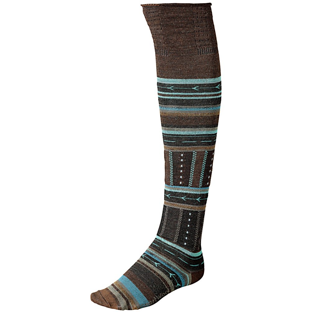 Ski SmartWool Gleaming Seedling Womens Socks - The SmartWool Gleaming Seedling Womens Socks are a comfy knee-high sock that has supportive arch braces so that you have all the comfort and warmth you need for the winter. Designed with Merino Wool, these soft socks will ensure your toes stay cozy when it's cold outside. . Warranty: Other, Waterproof: No, Material: 63% Merino Wool, 35% Nylon, 2% Elastane, Insulated: No, Model Year: 2013, Product ID: 296098 - $23.95