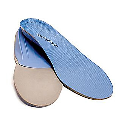 Camp and Hike An excellent way to add biomechanical support and comfort to your running, hiking or casual and dress shoes, the Superfeet Blue Footbed is an ideal choice for everyday activities.  This footbed is great for feet with low-to-medium arches that may not tolerate maximum support.  For the athletes, this is a perfect support footbed for cleat footwear.  There's a moderately deep heel cup which provides control and comfort and a friction control top cover. Designed primarily for tighter fitting footwear, Superfeet Blue features the most versatile shape and medium volume.  Knowing that the health of the feet impacts the health of the body, Superfeet designs its footbeds to help relieve the pain and discomfort caused by an unsupported foot during everyday activities, sports and work.  The Superfeet Blue model is based on the proven principles of podiatric medicine so get a pair today and feel the Superfeet Difference.  Ideal for Feet with Low-to-Medium Arches,  Moderately Deep Heel Cup,  Friction Control Top Cover,  Anatomical Arch Shape,  B = 4.5-6.0 (Womens),  C = 5.5-7.0 (Mens) 6.5-8.0 (Womens),  D = 7.5-9.0 (Mens) 8.5-10.0 (Womens),  E = 9.5-11.0 (Mens) 10.5-12.0 (Womens),  F = 11.5-13.0,  G = 13.5-15.0,  GTIN: 0086301524049, Model Number: 2404, Product ID: 207700, Model Year: 2014 - $44.99