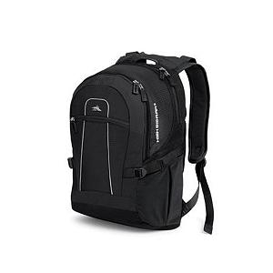 Snowboard High Sierra Computer Backpack - Looking for a comfortable and stylish way to carry around your computer? Check out the High Sierra Computer Backpack. Weighing just 2.1 lbs, this lightweight bag has compartments for everything from books and papers, to media devices, and, of course, a computer. Its Special Built-In, High-Density Foam Structure helps maintain the bag's shape while ensuring its minimal weight. There's a Front Zippered Accessory Pocket for an MP3 Player, a large stretchy Mesh Side Pocket for beverages, and many more pockets and slots to hold just about anything. Since you'll be carrying it around on your back and shoulders, High Sierra ensured your comfort by adding a VAPEL mesh AIRFLOW Back Panel to keep you cool and wick away moisture, VAPEL mesh AIRFLOW Padded Shoulder Straps with Suspension System and integrated media/cell phone pocket to keep your shoulders protected. Designed with high-quality materials for the person that needs to haul around computers, MP3 Players and everything you need to take with you, the High Sierra Computer Backpack is truly the urbanite's best friend. Features: Deluxe Business Organizer with Media Pocket, Pen Slots, Zippered Mesh Pocket and Key Fob, Large Stretchy Mesh Side Pockets , Adjustable Side Compression Straps, VAPEL Mesh AIRFLOW Back Panel , Yoke-Style, S-Shaped, VAPEL Mesh AIRFLOW Padded Shoulder Strap with Suspension System and Integrated Media/Cell Phone Pocket, Size: 19'' x 13.5'' x 8.25'', Materials: Grid-Weave Duralite, Mini-Weave Duralite and Duraweave. GTIN: 0040176414331, Model Number: EL106-0, Special Order: This is a Special Order item, will be shipped from the manufacturer, and is not stocked in our warehouse. This item does not qualify for our Price Matching Policy. Order processing time may vary., Shipping Exclusion: This item is only available for shipment by UPS to the lower 48 United States. APO, FPO, PO BOX, Hawaii, and Alaska shipments may not be possible for this item. (Please call prior to pu - $79.99