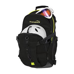 Ski Transpack Ridge Tech Backpack - The Transpack Ridge Tech Backpack is a lightweight pack with a slim profile to make carrying your skis, helmet and other gear around the mountain. It's a perfect for a day out on the mountain because it has a 600 denier polyester fabric which is very strong and durable. You'll also have an adjustable sternum and waist strap so you have the right fit for the best in comfort and stability. The zippered pocket expands to allow for a helmet and side pockets allow for water bottles. This backpack also has an internal mesh hydration sleeve with hose cover inside the shoulder strap for very easy access to a sip of water. You can bring just about anything you want on the mountain and carry it conveniently, from a laptop to ski gear and more, when you use the Transpack Ridge Tech Backpack. Features: Closed Cell Foam Padded Back, Padded Internal Laptop Sleeve, Key Clip Inside Front Pouch, Fleece Mesh Goggle Pocket. Goggle/Sunglasses Pocket: Yes, Category: Backpacks, Ski/Snowboard Carry: Ski, Waist Strap: Yes, Hydration Compatible: Yes, Use: Snow, Number of Pockets: 4, Material: 600 Denier Polyester, Exterior Pockets: Yes, Padded Inside: None, ID Tag: No, Gear Volume: 18L, Laptop Sleeve: Yes, Recommended Backpack Use: Daypack, Model Year: 2014, Product ID: 285627, Model Number: 3200-12, GTIN: 0607799005126 - $39.96