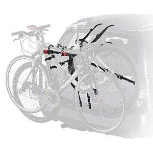 MTB Yakima QuickBack 2 Bike Rack - This Yakima QuickBack 2 Trunk Mount Bike Rack is the fastest installing, and easiest to use trunk mount. You will be loaded up and ready to go in minutes. The integrated adjustment knob lets you effortlessly adjust arm angles to gently cradle each bike. The narrow arm design fits a wide variety of bikes, these arms quickly fold down when not in use. When traveling in your vehicle the SwitchBlade anti sway cradles eliminates bike-to-bike contact, while providing support and protection against the bikes banging into each other. There is also a 6 labeled strap system that tells you when everything is in place and when you are good to go. In addition glass hooks for a vehicle with a glass trunk or gate mounts have been included. To protect your vehicles paint job, premium tri padded feet and coated padded metal buckles have been designed and added to prevent this from happening. You have been covered with this QuickBack 3 rack, now all you need to do is pick your favorite place to ride, pack up and go there. Features: 6 labeled strap system tells you when everything is in place, Compatible with most factory spoilers, Includes glass hatch hooks for glass trunk or gate mounts, Passive security system included with a steel-reinforced strap that goes into the trunk, Integrated bottle opener, Lifetime warranty, Weight is 14 pounds. Mount Type: Trunk, Bike Capacity: 2, Fork Mount: No, Model Year: 2013, Product ID: 178090 - $179.10