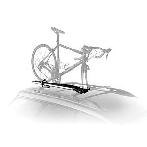 MTB Thule Domestique Bike Rack - The Thule 513 Domestique is a roof mount rack that's compatible with 9mm fork bikes. Once the front wheel is off the bike the fork easily slips into a skewer and the oversized lever makes tightening a cinch. Outfitted with an adjustable strap and wheel stabilizer your bike isn't going anywhere but where you intended it to. A sturdy corrosion resistant aluminum tray is the backbone of the design making the whole system very stable. . Mount Type: Roof, Bike Capacity: 1, Fork Mount: Yes, Model Year: 2013, Product ID: 186850, Shipping Restriction: This item is not available for shipment outside of the United States. - $152.95