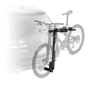 MTB Thule Parkway 2 Hitch Bike Rack - The 958 Parkway hitch mount bike rack is designed to carry 2 bike safely and trouble free and attaches to your vehicle and loads easily. Soft rubber cradles protect the bike frame while holding it snug to the vehicle. The rack is constructed out of high-strength steel preventing unnecessary movement when the roads get a little rough. The Parkway tilts away from the vehicle giving access to cargo in trunks, hatches, and tailgates. . Product ID: 186854, Shipping Restriction: This item is not available for shipment outside of the United States. - $161.95