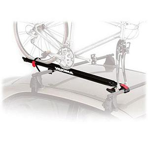 MTB Yakima Viper Bike Rack - The Yakima Viper keeps it simple with no-tool installation and an ergonomic skewer that can be adjusted with just one hand. The Viper has the ability to fit a wide range of wheels and tires as well as bikes with disc brakes. A 9mm stainless steel lockable skewer (SKS lock cores sold separately) makes loading and unloading a breeze. . Mount Type: Roof, Bike Capacity: 1, Fork Mount: Yes, Model Year: 2013, Product ID: 188110 - $116.10