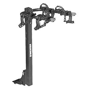 MTB Yakima BigHorn Hitch Mount Bike Rack - For the family that wants a bike rack with a price proportional to the number of times they use it the Bighorn 4 is the perfect match. The dual-arm design fits up to four bike and the SwitchBlade anti-sway cradles eliminate bike-to-bike contact while protecting the bikes frame. Simply remove a single pin from the racks mast allowing it to be lowered and out of the way. The addition of a DeadLock (sold separately) can lock both the bikes as well as the rack. Comes with a 2 inch or a 1.25 inch hitch receiver. Features: Available in 2 inch or 1 1/4 inch hitch receivers. Product ID: 188135 - $179.10
