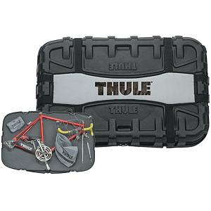 MTB Thule Round Trip Bike Travel Case Bike Rack - Packing up your bike shouldnt require training. The new Thule Round Trip travel case provides room for all your gear and the confidence that it will stay put. RFM adapter required when used on Aero bar. . Mount Type: Roof, Bike Capacity: 1, Model Year: 2013, Product ID: 66039, Shipping Restriction: This item is not available for shipment outside of the United States. - $386.95