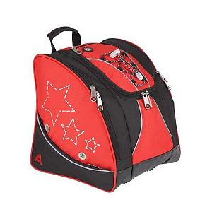 Ski Athalon Kids Boot Bag Ski Boot Bag 2014 - Make carrying your kids ski boots a snap with the Athalon Kids Boot Bag. This bag is lightweight and made from durable nylon to withstand many seasons of use. Equipped with two separate zippered sections, side pockets to store your boots and a middle section there is plenty of room for gear. On the back of the bag there are four padded lumbar back pads for comfort and ease of carrying. There is no need to worry about your bag getting wet as there are bottom drainage ports and side air vents. Your kids can even carry their jackets with the bungee cords attached on the front of the bag. Transport your kids boots to the mountains with ease using the Athalon Kids Boot Bag. Features: Side air vents and interior security pocket., Sternum strap prevents bag from slipping off shoulder., Bottom drainage ports.. Warranty: One Year, Goggle/Sunglasses Pocket: No, Category: Boot Bags, Material: Nylon, Weight of Bag: 2lbs, Exterior Pockets: Yes, Size Dimensions: 11x13x12in, ID Tag: Yes, Gear Volume: 28L, Backpack Straps: Yes, Helmet Storage: No, Model Year: 2014, Product ID: 178635 - $59.99