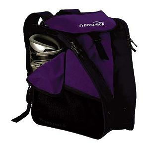 Ski The Transpack XTW Boot Bag is the perfect way for you to transport your gear to the slopes and back in style and comfort.  XTW features the Isosceles Storage System which will carry your boots, helmet and gear.  The two side pockets hold boots that surround a large central compartment that accommodates a helmet and other gear.  The weight and bulk from your boots are diverted to the sides, away from your back, to create a natural suspension that is ergonomic and comfortable.  The boot pockets feature air and water drainage grommets that allow the moisture to escape.  Adjustable padded neoprene shoulder straps ensure that you will be comfortable when carrying the XTW.  Best of all you can store personal items in the internal zipper pocket.  Isosceles Storage System,  Side boot pockets with air/water drainage grommets,  Coated water resistant central compartment for gear,  Water resistant tarpaulin bottom,  Closed cell foam padded shoulder straps,  Adjustable neoprene shoulder straps,  Internal zipper pocket for personal items,  Zipper mesh side pockets and top lid pocket,  Double locking, self repairing nylon coil zippers,  Warranty: One Year, Goggle/Sunglasses Pocket: No, Category: Boot Bags, Material: Durable and Tough, Water Resistant Coated 600 Denier Polyester, Weight of Bag: 3.0 lbs, Exterior Pockets: Yes, Size Dimensions: 17in x 14.5in x 12in, ID Tag: No, Gear Volume: 40L, Backpack Straps: Yes, Helmet Storage: No, Separate Boot Compartments: Yes, Model Year: 2017, Product ID: 248852, Model Number: 3360-05, GTIN: 0607799002781 - $79.95