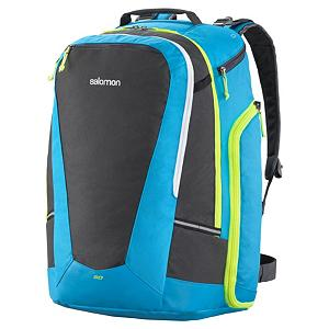 Ski Salomon Go To Ski Gear Ski Boot Bag 2013 - Originally designed for racers the Salomon Go To Ski Gear Bag is an innovative backpack for everyone and features plenty of bells and whistles that allow you to store all the gear you may need. This backpack features a large main compartment, a separate helmet compartment and two separate waterproof boot compartments that allow you to store all of your gear. The Salomon Go To Ski Gear Bag also meets airline cabin size restrictions. Features: 2 Waterproof Separated Boot Compartments, Stowable Adjustable Belt with Large Winter Buckle, Load Lifter Straps. Category: Backpacks, Material: 600D PES TPE, Size Dimensions: 41x36x30cm, ID Tag: Yes, Side Pocket: Yes, Gear Volume: 50L, Backpack Straps: Yes, Helmet Storage: Yes, Model Year: 2013, Product ID: 277134 - $99.95
