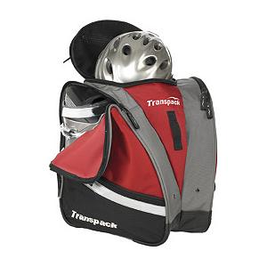Ski Transpack Compact Pro Ski Boot Bag 2013 - Looking for that easy way to transport your ski gear? Try the Transpack Compact Pro Boot Bag for a convenient way to carry your boots, helmet and other gear to and from the mountain. Two side pockets with air/water drainage grommets allow for wet boots to drip the snow melt off and air them out. For transporting comfort and stability you'll have a closed cell padded back as well as adjustable shoulder and sternum straps as well as a waist belt. There is an internal zipper pocket for storing personal items and a fleece goggle pocket for, well, goggles. Water Resistant to prevent moisture from seeping in, the Transpack Compact Pro Boot Bag makes hauling all that ski stuff a breeze. Features: Adjustable Waist Belt and Sternum Strap, Internal Zipper Pocket, Fleece Goggle Pocket, Double Locking Self Repairing Nylon Coil Zippers. Category: Boot Bags, Material: 1680 Ballistic Nylon, ID Tag: Yes, Side Pocket: Yes, Gear Volume: 40L, Backpack Straps: Yes, Helmet Storage: Yes, Model Year: 2013, Product ID: 285635 - $109.99