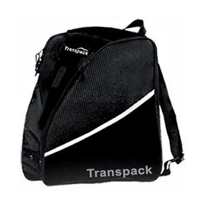 Ski Transpack Expo Ski Boot Bag - The Transpack Expo Boot Bag makes hauling your ski boots, helmet and other ski gear much easier the next time you head out to the slopes. Designed with a tough and durable 600 Denier Polyester, this water resistant fabric can handle the abuses of constant transporting. To keep your boots dry and odor free, there are two side pockets designated for the boots with air/water drainage grommets and top mesh ventilation which allows the water to drain and air to flow through. Adjustable padded shoulder straps make for transporting your ski gear very convenient when you use the Transpack Expo Boot Bag. . Category: Boot Bags, Material: 600 Denier Polyester, ID Tag: No, Side Pocket: Yes, Gear Volume: 43L, Backpack Straps: Yes, Helmet Storage: No, Model Year: 2013, Product ID: 285643 - $59.95