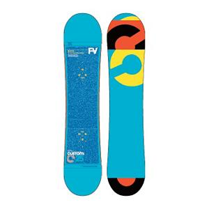 Snowboard Burton Custom Smalls Boys Snowboard - The Burton Custom Smalls is the grom-sized version of the highly popular Custom Flying V. Flying V places rocker zones in the tips and between the feet for playfulness and loose feel. Camber zones underfoot provide edge grip and control while focusing olly power. Twin shape and flex makes the Custom Smalls perform equally well in both directions. The Extruded base is super low maintenance and easy to repair for those moments your grom gets extra steezed. Pro-Tip tapers the tips reducing swing weight for maximum control and effortless spins. Most companies skimp on the tech in their kids boards, but not Burton. . Special Features: Flying V, Bearing Grade: High Performance, Warranty: One Year, Skill Range: Intermediate - Advanced, Model Year: 2013, Product ID: 271631, Shipping Restriction: This item is not available for shipment outside of the United States., Gender: Boys, Skill Level: Intermediate, Model Number: 276094 125, GTIN: 9009004623261, Base Material: Extruded P-tex, Magnatraction: No, Hole Pattern: Burton 3D, Construction Type: Sidewall Construction, Core Material: Wood, Rocker Type: Flying V, Board Width: Regular, Pipe Oriented: No, Flex: Medium, Shape: Twin, Rocker Profile: Rocker with Camber, Stance Setback: Centered, Stance Width: 430-455mm, Waist Width: 233mm (@135cm), Recommended Use: All-Mountain Freestyle, Core Name: Super Fly, Base Name: Extruded, Actual Turn Radius @ Specified Length: 6.39m(135cm) - $159.92