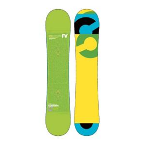 Snowboard Burton Custom Smalls Wide Boys Snowboard 2013 - The Burton Custom Smalls Wide is the grom-sized version of the highly popular Custom Flying V for the bigger footed little shredders. Flying V places rocker zones in the tips and between the feet for playfulness and loose feel. Camber zones underfoot provide edge grip and control while focusing olly power. Twin shape and flex makes the Custom Smalls Wide perform equally well in both directions. The Extruded base is super low maintenance and easy to repair for those moments your grom gets extra steezed. Pro-Tip tapers the tips reducing swing weight for maximum control and effortless spins. Most companies skimp on the tech in their kids boards, but not Burton. . Actual Turn Radius @ Specified Length: 7.1m(145W), Base Name: Extruded, Core Name: Super Fly, Recommended Use: All-Mountain Freestyle, Waist Width: 245mm (@145w), Stance Width: 455-480mm, Stance Setback: Centered, Rocker Profile: Rocker with Camber, Shape: Twin, Flex: Medium, Pipe Oriented: No, Board Width: Regular, Rocker Type: Flying V, Core Material: Wood, Construction Type: Sidewall Construction, Hole Pattern: Burton 3D, Magnatraction: No, Base Material: Extruded P-tex, Warranty: One Year, Skill Range: Intermediate - Advanced, Model Year: 2013, Product ID: 271635, Shipping Restriction: This item is not available for shipment outside of the United States., Gender: Boys, Skill Level: Intermediate - $179.99