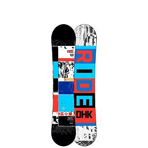Snowboard Ride DHK Wide Boys Snowboard - The DHK Wide is not your typical kids board. This deck is built for a kid that is still lightweight and needs a junior board, but has a bigger foot that will not fit on a regular junior board. The DHK Wide has tons of pop and has super-smooth stability. The DHK Wide has urethane Slimewalls which provide junior with a smooth ride. The Twin Rocker shape is pure butter, it will allow any mini ripper to effortlessly go from regular to switch and. The DHK Wide will allow little Bobby back flip to go anywhere on the mountain whether it is taking laps through the park, ripping turns on a groomer, or better yet building a little kicker on the side of a groomer. The DHK Wide is going to allow junior to take his riding from childhood stardom to the latest list of up and comers. . Actual Turn Radius @ Specified Length: 6.85m (@145cm), Base Name: Fusion 1500, Core Name: Foundation Tuned Core, Recommended Use: All-Mountain Freestyle, Waist Width: 248mm (@145cm), Stance Width: 483mm, Stance Setback: Centered, Special Features: Slimewalls, Rocker Profile: Rocker, Shape: Twin, Flex: Stiff, Pipe Oriented: No, Board Width: Wide, Rocker Type: Twin Rocker, Core Material: Wood, Construction Type: Sidewall Construction, Hole Pattern: Standard 4 Hole, Magnatraction: No, Base Material: Extruded P-tex, Warranty: One Year, Skill Range: Intermediate - Advanced, Model Year: 2013, Product ID: 281005, Shipping Restriction: This item is not available for shipment outside of the United States., Gender: Boys, Skill Level: Intermediate - $149.95