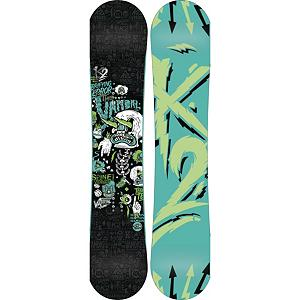 Snowboard K2 Vandal Wide Boys Snowboard - The K2 Vandal Wide is a big footed Groms freestyle dream. With the Vandals wider shape it reduces the chance of toe and heel drag for your larger footed youngster. With the Jib Rocker loaded into the Vandal it has all the energy and pop that encourages freestyle progression with a loose, buttery feel while maintaining instant response and pop. Hypritech in the tip and tail reduce swing weight, able to initiate turns easier and durable. The Vandal is the perfect starting board for any youngster that is looking to throw down anywhere on the mountain. . Actual Turn Radius @ Specified Length: 7.2m(@145W), Base Name: 2000 Extruded, Core Name: W1, Recommended Use: All-Mountain Freestyle, Waist Width: 247mm(@145W), Stance Width: 20-21mm, Stance Setback: Centered, Special Features: Hypritech Construction, Rocker Profile: Rocker, Shape: Twin, Flex: Medium, Pipe Oriented: No, Board Width: Wide, Rocker Type: Jib Rocker, Core Material: Wood, Construction Type: Sidewall Construction, Hole Pattern: Standard 4 Hole, Magnatraction: No, Base Material: Extruded P-tex, Warranty: One Year, Skill Range: Intermediate - Advanced, Model Year: 2013, Product ID: 281693, Shipping Restriction: This item is not available for shipment outside of the United States., Gender: Boys, Skill Level: Intermediate - $129.99