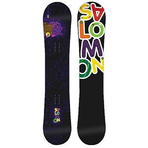 Snowboard Salomon Mini Drift Rocker Boys Snowboard - Most of the time when something is mini, you always want more, not with the Mini Drift Rocker. Kids just want to play in the park, and the Salomon Kids Mini Drift Rocker Snowboard is all about play. This scaled-down) version of Salomons best-seller features a true-twin shape and jib-friendly rocker profile so young riders can spin, hop, slide, and tap the day away. Pres-Sure Rocker profiles super-soft feel and catch-free ride helps young riders progress with confidence and control. Equalizer edge shape features three straight lines instead of radial, which add grip to compensate for the softer flex. The Mini Drift has an Extruded EG base repairs easily when it gets dinged up and does not need to be waxed often. The Mini Drift Rocker allows kids to feel like an adult without the responsibility. . Actual Turn Radius @ Specified Length: 7.1m(143cm), Base Name: Ext, Core Name: Aspen, Recommended Use: Freestyle, Waist Width: 245mm(143cm), Stance Width: 22.3-23.9in, Stance Setback: Centered, Special Features: Equalizer Sidecut, Bearing Grade: High Performance, Rocker Profile: Rocker, Shape: Twin, Flex: Soft, Pipe Oriented: No, Board Width: Regular, Rocker Type: Pres-Sure Rocqualizer, Core Material: Wood, Construction Type: Sidewall Construction, Hole Pattern: Standard 4 Hole, Magnatraction: No, Base Material: Extruded P-tex, Warranty: Two Year, Skill Range: Intermediate - Advanced, Model Year: 2012, Product ID: 284146, Gender: Junior, Skill Level: Intermediate, Model Number: L127087 139, GTIN: 0080694452576 - $79.95