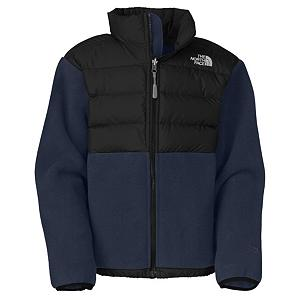 Snowboard The North Face Denali Down Boys Jacket - The North Face Denali Down Boys Jacket is your classic Denali Jacket with a great upgrade. The added Thermal- Mapped down insulation for maximum warmth and protection provides your child with the vital coverage they need in cold weather without added bulk. Allowing your boy the freedom of movement to play hard and attempt challenges while with standing the fierce winter conditions. The Thermal Mapping technology places insulation where it's needed most, at the core and arms and lightweight stretch fabrics at the sides and elbows for increased flexibility. The Danali Down Jacket is zip compatible - when added to an over jacket, warmth and protection are enhanced allowing your boy enjoy his outdoor activity and not be effected by the chilled temps. . Exterior Material: Recycled Polartec 300 Series Fleece with DWR Finish, Insulation Weight: 550 Fill down, Taped Seams: None, Waterproof Rating: N/A, Breathability Rating: N/A, Fleece Weight: Heavy, Hood: No, Warranty: Lifetime, Battery Heated: No, Race: No, Type: Fleece, Cut: Regular, Length: Medium, Insulation Type: Down, Waterproof: Not Specified, Breathability: Not Specified, Waterproof Zippers: Yes, Closure Type: Full Zip Top, Wind Protection: Yes, Pockets: 3-4, Model Year: 2013, Product ID: 270258, Shipping Restriction: This item is not available for shipment outside of the United States. - $79.95