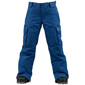 Snowboard Burton Exile Cargo Kids Snowboard Pants - The classic style and look of the Burton Exile Cargo Snowboard Pants will have your boy warm on the mountain so he can become one of the best shredders on the mountain. Designed with DRYRIDE Durashell 2-Layer Twill Fabric, they will have a weatherproof and breathable pair of snowboard pants to keep them dry against the wintry precipitation and comfortable. They will be warm with because these pants utilize Thermacore Insulation to trap the heat inside. However, if it's a warm day and they're heating up they can open up the Mesh-Lined Inner Thigh Vents to cool down and get some of the humidity out. With plenty of pockets and plenty of warmth, the Burton Exile Cargo Snowboard Pants are an excellent go-to pants for all youngsters. . Exterior Material: DRYRIDE Duracell 2-Layer Twill Fabric, Softshell: No, Insulation Weight: 60 Grams, Taped Seams: None, Waterproof Rating: 10,000mm, Breathability Rating: 10,000g, Full Zip Sides: No, Thigh Zip Venting: Yes, Suspenders: None, Articulated Knee: No, Warranty: Lifetime, Race: No, Waterproof: Mild Waterproofing (5,001 - 10,000mm), Breathability: Mild Breathability (5,001 - 10,000g), Use: Snowboard, Type: Insulated, Pant Fit: Regular, Lining Material: Taffeta, Waist: Beltloops, Pockets: 5-6, Model Year: 2013, Product ID: 289510, Shipping Restriction: This item is not available for shipment outside of the United States., Model Number: 276468-405S, GTIN: 0886057853772 - $59.91