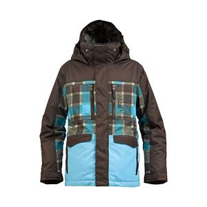Snowboard Burton Distortion Boys Snowboard Jacket - The Burton Distortion Snowboard Jacket is for the groms who are ready to play with the pros, the team-designed Distortion Jacket combines top-of-the-line tech with a longer, roomier fit. The premium Dryride 2L herringbone fabric delivers the highest waterproof/breathability in the line, while proper placed insulation balances core warmth with mobility where it matters most. The flannel interior looks as good as it feels, while wicking away moisture when repeatedly riding the hill. . Bearing Grade: Performance, Warranty: Lifetime, Wrist Gaiter: No, Waterproof Zippers: No, Model Year: 2013, Product ID: 289639, Shipping Restriction: This item is not available for shipment outside of the United States., Model Number: 276342-228S, GTIN: 0886057879987, Insulator: No, Cinch Cord Bottom: No, Cuff Type: Velcro, Breathability: High Breathability (9000g-15,000g), Waterproof: Moderately Waterproof (5000mm-19,999mm), Insulation Type: Synthetic, Length: Medium, Cut: Regular, Type: Insulated, Race: No, Battery Heated: No, Use: Snowboard, Hood: Yes, Powder Skirt: No, Pockets: 4-5, Pit Zip Venting: Yes, Hood Type: Fixed, Breathability Rating: 10,000g, Waterproof Rating: 10,000mm, Taped Seams: Critically Taped, Insulation Weight: 120g, Exterior Material: Dry ride Duracell - $107.93
