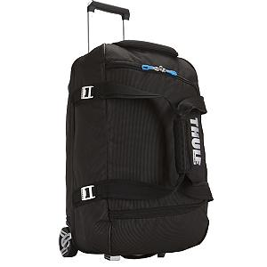Camp and Hike Sturdy, tough and made of strong construction and fabrics. This Thule Crossover 56L Rolling Duffle Bag has compartments that have been heat molded, with a crush proof SafeZone technology. These compartments will Keep your items safe and protected as you travel by plane, train or car. The oversized wheels and the Thule V-Tubing telescoping handles will provide you with a smooth pull that will keep this bag steady and straight, without the side wobbling. The divided main compartment has an easy zipper access that will keep your clean items from the dirty, the wet from the dry and the large from the small. A very convenient size that is 60 x 38 x 32.5cm to easily load helmets, boots, gloves, hats, jackets and other travel necessities. The weight of this 56L Rolling Duffle Bag is a lightweight 7 lb 11oz. The exoskeleton is durable and has been molded with a polypropylene fabric for the back panel making this panel very durable while absorbing the impact of any rugged travels. Once you use this incredible rolling duffle, you will wonder how you were able to get along for so long without it. Solve the hassles of packing for a trip without using the convenience of this Thule Crossover 56L Rolling Duffle Bag any longer.  Rolling Duffel Bag,  Dimensions are 23.6 x 15 x 12.8 inches,  Dimensions are 60 x 38 x 32.5 cm,  Weight is 7 lbs 11 oz,  Weight is 3.5 kg,  Capacity size is 3418 cu in, 56 L,  Divided main compartment,  Heat molded, crush proof SafeZone compartment,  Compression straps customize this bag to the size of your load,  Tough, oversized wheels and Thule V-Tubing,  Telescoping handles guarantee a smooth, steady and straight pull,  Durable exoskeleton,  The molded polypropylene back panel absorbs the impact of rugged travel,  Aluminum hardware,  Water resistant fabric,  Lightweight, durable duffel,  Easy to care for, wipe with a damp cloth,  Convenient and great for any type of traveling,  GTIN: 0085854214254, Model Number: 3201092, Shipping Restriction: This item is not available for shipment outside of the United States., Product ID: 214217, Model Year: 2017 - $289.95