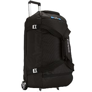 Camp and Hike Sturdy, tough and made of strong construction and fabrics. This Thule Crossover 87L Rolling Duffle Bag has compartments that have been heat molded, with a crush proof SafeZone technology. These compartments will keep your items safe and protected as you travel by plane, train or car. The oversized wheels and the Thule V-Tubing telescoping handles will provide you with a smooth pull that will keep this bag steady and straight, without the side to side wobbling. The divided main compartment has an easy zipper access that will keep your clean items from the dirty, the wet from the dry and the large from the small. A very convenient 5310 cubic inch size makes packing easy. Great for helmets, boots, gloves, hats, jackets and other travel necessities. The weight of this 87L Rolling Duffle Bag is 9 lbs, 8oz. The exoskeleton is durable and has been molded with a polypropylene fabric for the back panel making this panel very durable while absorbing the impact of any rugged travels. Once you use this incredible rolling duffle, you will wonder how you were able to get along for so long without it. Solve the hassles of packing for a trip without using the convenience of this Thule Crossover 87L Rolling Duffle Bag any longer.  Dimensions are 29.1 x 16.1 x 15.7 inches,  Divided main compartment,  Heat molded, crush proof SafeZone technology,  Tough, oversized wheels and Thule V-Tubing,  Telescoping handles guarantee a smooth, steady and straight pull,  Durable exoskeleton and a molded polypropylene back panel that absorbs the impact of rugged travel,  Aluminum hardware,  Water resistant fabrics combines to create a lightweight and durable bag,  5310 cu in, 87L,  9 lb 8 oz, 4.3 kg,  Easy to keep clean, wipe with a clean damp cloth,  Model Year: 2017, Product ID: 214218, Shipping Restriction: This item is not available for shipment outside of the United States., Christmas Delivery: This is a Special Order item and is not guaranteed for Christmas delivery., Shipping Exclusion: This item is only available for shipment by UPS to the lower 48 United States. APO, FPO, PO BOX, Hawaii, and Alaska shipments may not be possible for this item. (Please call prior to purchase.), Special Order: This is a Special Order item, will be shipped from the manufacturer, and is not stocked in our warehouse. This item does not qualify for our Price Matching Policy. Order processing time may vary., Model Number: 3201094, GTIN: 0085854214261, Gear Volume: 87L, Interior Mesh Pocket: No, ID Tag: No, Exterior Pockets: No, Airplane Carry-On: No, Recommended Use: Long Travel, Material: Dobby Nylon - $299.95