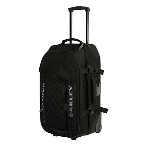 Camp and Hike Oakley Medium Roller Bag Duffle Bag 2014 - This medium sized roller bag is the ideal size for all of your traveling needs. Oakley has thought of everything when creating this Medium Sized Roller Bag. The dimensions are 27in x 15in x 11.5inches with a split main opening that allows for you to easily access your gear, fleece, gloves or hat should the temperature change at your final destination. The zippered inside accessory mesh pocket keeps your sunglasses, reading glasses, important traveling papers, passport or medicines readily and instantly available. This convenient size has a lockable zipper pull that will give you peace of mind. With a telescoping handle that moves upwards and downwards adjusting to the perfect height needed each time you roll making this the perfect middle ground of traveling bags. The wheels are made of a sure-grip tread and smooth rolling bearings without slowing you down. This stylish Oakley Medium Roller Bag is made of a durable polyester that will hold up to airport or bus traveling. The ID tag holster will allow for you to locate this bag quickly and then be on your way in style with a heavy-duty, reliable and smooth rolling bag that will fit all of your traveling needs. Features: 4 Wide Grip Handles, ID tag holster, Wheels Made With Sure-Grip Tread and Smooth Rolling Bearings. Bearing Grade: High Performance, Model Year: 2014, Product ID: 246597, Model Number: 92279-001, GTIN: 0885614163217, Luggage Style: Wheeled Duffel, Gear Volume: 45L, Interior Mesh Pocket: No, ID Tag: Yes, Size Dimensions: 22x14x9in, Exterior Pockets: Yes, Weight of Bag: 10.0 lbs, Airplane Carry-On: Yes, Material: Synthetic, Ski Capacity: None, Category: Luggage, Warranty: One Year - $139.95