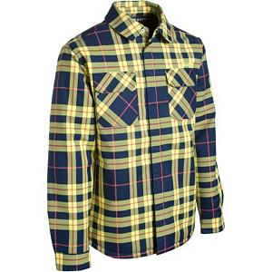 Snowboard The Orage Duncan Jacket offers the timeless look and feel of a flannel barn coat, with a waterproof and insulated treatment that you won't find anywhere else. You know this style may belong in the woods, although as you step out you make your own statement. The Orage Duncan Flannel Shirt Jacket is not just a measly your flannel, this shirt jacket features a two-layer Prime 5 fabric and synthetic insulation to keep the cold and wet from disturbing your domination. Lumberjack on the outside, dry and toasty on the inside.  Quick drying and breathable,  Front flap and snap cuffs,  Insulation Type: Synthetic, Length: Medium, Breathability: Low Breathability (< 5,000g), Cuff Type: Snap, Jacket Fit: Regular, Race: No, Hood: No, Category: Heavy-Weight, Fleece Weight: Heavy, Powder Skirt: No, Cinch Cord Bottom: No, Pockets: 1-2, Goggle/Sunglasses Pocket: No, Electronics Pocket: No, Pockets: 1-3, Pit Zip Venting: No, Hood Type: None, Breathability Rating: 5,000g, Insulation Weight: 190g, Exterior Material: Polyester/Nylon, Waterproof: Water Resistant (< 5,000mm), Wrist Gaiter: No, Waterproof Zippers: No, Type: Insulated, Rain Jacket: No, Closure Type: Button Up, Battery Heated: No, Use: Ski, Warranty: One Year, Wind Protection: Yes, Type: Flannels, Material: Synthetic, Material: Polyester, Wicking Properties: No, Sleeve Type: Long Sleeve, Water Resistant: Yes, Waterproof Rating: 5,000mm, Taped Seams: None, Softshell: No, Model Year: 2012, Product ID: 264903, Model Number: AUM0015 B124 S, GTIN: 0882111242957 - $39.92