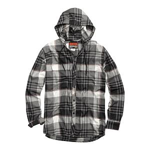 Snowboard Burton Ruckus Hooded Flannel - Jump in your DeLorean and put the pedal to the metal until you end up in the 80's so you can grab a Burton Ruckus Hooded Flannel wanna-be for a few bucks. But then you have the problem that you may get stuck back in time with a hooded flannel that gets wet and stays wet. Thankfully, you don't have to do any of that. The Ruckus' DRYRIDE Ultrawick Yarn-Dyed Plaid Flannel wicks away heat-thieving moisture vapors preventing you from turning into a wet poodle. The Ruckus is Quick-Drying and Highly Breathable so you can concentrate on your spring laps. Stink-Proof Antimicrobial Finish fights the funkiness so it's sure to save a few noses. Flip the Fulltime Flannel Hood with Draw Cord Closure up when the fluff starts to fall and shred on. Chest pockets give you storage room and the button-up closure adds to your street steeze. The Burton Ruckus Hooded Flannel is here to remind you that time travel is overrated. . Hood Type: Fixed, Material: DRYRIDE Ultrawick Plaid Flannel, Bearing Grade: Performance, Hood: Yes, Warranty: One Year, Battery Heated: No, Closure Type: Button Up, Wind Protection: Yes, Type: Flannels, Material: Synthetic, Pockets: 1-2, Wicking Properties: No, Sleeve Type: Long Sleeve, Water Resistant: No, Model Year: 2013, Product ID: 288823, Shipping Restriction: This item is not available for shipment outside of the United States., Model Number: 275751-188S, GTIN: 0886057810294 - $39.92