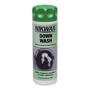 Snowboard The Nikwax Down Wash will clean and restore the loft and water repellent capabilities of your down garments and sleeping bags.  It will help maintain breathability and is easy to apply.  This Down Wash can be used in washing machines.   Nikwax is a global leader in safe, high performance waterproofing, cleaning and condition for outdoor gear. Nikwax aftercare products have been PFC free since 1977 (founding).   Prolongs the life of gear and optimises outdoor performance,  Revitalizes loft and insulation, without damaging the structure of the down,  It maintains breathability It maintains original water-repellency,  It's easy to apply - can be used in a washing machine,  Suitable for use on all fabrics, including technical textiles,  It lifts out dirt that can attract water and mask water repellent finishes,  WaterBased - environmentally friendly, biodegradable, non flammable, non hazardous,  PFC Free,  Product ID: 256458, Model Number: 191 10OZ, GTIN: 0703861000805, Model Year: 2015 - $9.75
