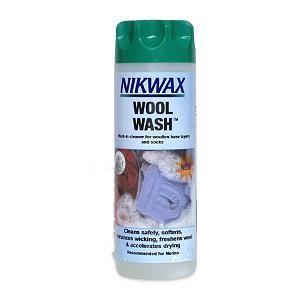 Snowboard The Nikwax Wool Wash is a gentle cleaner that will remove grime and odors from your favorite clothes.  This cleaner is ideal for wool base layers and socks as well as high-content merino wool items.  This cleaner from Nikwax will restore wool's ability to wick away moisture and regulate temperature.  The Nikwax Wool Wash is a water based formula that is environmentally friendly.  Nikwax is a global leader in safe, high performance waterproofing, cleaning and condition for outdoor gear. Nikwax aftercare products have been PFC free since 1977.  Gentle cleaner removes grime and odors,  Ideal for wool base layers and socks, including high-content merino wool items,  Restores the wool's natural ability to wick moisture and regulate temperature,  Top-load and front-load washing machine compatible. Great for hand wash applications too,  WaterBased formula is environmentally friendly,  PFC Free,  GTIN: 0703861002526, Model Number: 131 10OZ, Product ID: 257062, Model Year: 2017 - $11.00