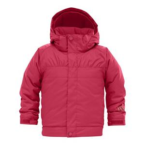 Ski Burton Minishred Melody Toddler Girls Ski Jacket - The Burton Girl's Minishred Melody Toddler Ski Jacket is kid-tested and parent approved. The Minishred Melody features Burton's DRYRIDE Durashell 2-Layer coated dobby fabric. It has 5,000mm of waterproofing and 5,000 of breathability so your kid stays protected from the elements and stays dry inside and out. Thermacore insulation [240g body, 180g sleeves, 100g hood] will keep your kid nice and warm. If their hands get chilly, they can use the Velcro closure handwarmer pockets. The open hem bottom makes for a comfortable fit. Burton's room-to-grow system allows the Minishred Melody to grow with your child. So no more excuses for new jackets every year! . Exterior Material: DRYRIDE Durashell 2-Layer Coated Dobby Fabric, Softshell: No, Insulation Weight: 240g Body, 180g Sleeves, 100g Hood, Taped Seams: Fully Taped, Waterproof Rating: 5,000mm, Breathability Rating: 5,000g, Hood Type: Fixed, Pit Zip Venting: No, Pockets: 6-7, Electronics Pocket: No, Goggle/Sunglasses Pocket: No, Powder Skirt: Yes, Hood: Yes, Warranty: One Year, Use: Snowboard, Battery Heated: No, Race: No, Rain Jacket: No, Type: Insulated, Cut: Regular, Length: Medium, Insulation Type: Synthetic, Waterproof: Moderately Waterproof (5000mm-19,999mm), Breathability: Moderate Breathability (4000g-8999g), Cuff Type: Velcro, Wrist Gaiter: No, Waterproof Zippers: No, Cinch Cord Bottom: Yes, Insulator: No, Model Year: 2012, Product ID: 240869, Shipping Restriction: This item is not available for shipment outside of the United States. - $49.95