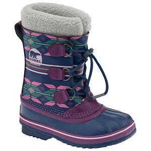 Ski Sorel Yoot Pac TP Girls Boots - The Sorel Yoot Pac for kids is a great versatile boot for everything from sledding to making snowmen. A user friendly design provides easy entry or exit for small hands and the seam sealed waterproof construction offers a durability to withstand the challenges of the day. The full leather upper is PU coated which repels dirt, water or resists abrasions over a handcrafted Vulcanized rubber shell. A natural rubber outsole in a herringbone pattern gives the grip necessary to traverse uncertain conditions with confidence. A completely removable full length inner boot is washable for convenience and provides additional warmth along with the plush Sherpa Pile cuff. Nothing has been left to chance and Sorel has put considerable thought into meeting the needs of a child. So you can rest assured the Yoot Pac will rise to the occasion every time without question. Features: Extra Plush and Warm Sherpa Pile Snow Cuff, Fully Seam Sealed Waterproof Construction, Bonded 2.5mm Frost Plug offers Space Between Feet and Ground. Warranty: One Year, Waterproof: Yes, Material: Leather Upper with Rubber Shell on Herringbone Rubber Outsole, Type: Boot, Insulated: Yes, Sole Material: Handcrafted Vulcanized Rubber Herringbone Outsole, Model Year: 2012, Product ID: 242734 - $39.93