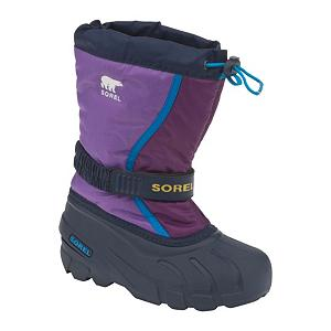 Ski Sorel Flurry TP Girls Boots - This Sorel staple is new and improved with the addition of Sorel's patented Thermoplus removable liner. It's their most popular kids boot. Great for keeping your active children warm and dry while playing in the snow. The Flurry features durable water and wind resistant PU coated synthetic textile upper. Built-in gaiter with barrel lock closure system totally locks out the elements so your little princess stays warm and dry. Adjustable Gore and Velcro instep strap provides a custom fit. Removable 6mm Thermoplus washable, recycled felt InnerBoot gives your little girl the comfort she needs while she plays. Injection molded waterproof thermal rubber shell will fight off the water even if she walks through a puddle. The multi-directional lug outsole enhances traction to minimize slips. Did we mention the Flurry TP is a Sorel? . Warranty: One Year, Waterproof: Yes, Material: PU Coated Synthetic Textile, Type: Boot, Insulated: Yes, Sole Material: Rubber, Model Year: 2013, Model Number: NY1810 506 1.0, GTIN: 0803298543873, Product ID: 291346 - $39.91