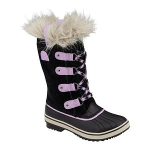 Ski Sorel Tofino Girls Boots - For the little girl who wants to look like her mom or big sister, this style has the comfort and versatility of a sneaker with the protection of a Sorel boot. Water-resistant suede keeps your girl's feet dry and the leather upper with fun laces will keep her aesthetically pleased. 100g of Thinsulate insulation keeps your girl plenty warm for those cold winter days. Full length fleece lining is super comfy and moisture wicking. Removable EVA footbed provides the cushioning. Sorel doesn't skimp on anything when it comes to their kids boots and the Tofino is no exception. . Warranty: One Year, Waterproof: Yes, Material: Water-Resistant Suede Leather, Type: Boot, Insulated: Yes, Sole Material: Rubber, Model Year: 2013, Product ID: 291360, Model Number: NY1852 010 1.0, GTIN: 0803298644129 - $49.91