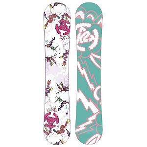Snowboard K2 Lil Kandi Girls Snowboard - The Lil Kandi Snowboard from K2 makes snowboarding easy and fun for the up and coming shredder. With fun colors and a soft flex, the Lil Kandi is built to match little girls' expectations and abilities. The Catch Free Rocker allows for easy turns and intuitive control while a centered stance promotes stability from day one. Whether your little lady is stepping out for the first time or keeping up with her friends, snowboarding begins with a Lil Kandi. . Actual Turn Radius @ Specified Length: 5.0m (110cm), Base Name: 2000 Extruded, Core Name: Noodle, Recommended Use: All-Mountain, Waist Width: 21.70in (110cm), Stance Width: 12-14in, Stance Setback: Centered, Special Features: Catch Free Rocker, Special Features: Hybrilight Noodle Construction, Rocker Profile: Rocker, Shape: Directional Twin, Flex: Soft, Pipe Oriented: No, Board Width: Regular, Rocker Type: Catch Free Rocker, Core Material: Wood, Construction Type: Sidewall Construction, Hole Pattern: Standard 4 Hole, Magnatraction: No, Base Material: Extruded P-tex, Warranty: One Year, Skill Range: Beginner - Advanced Intermediate, Model Year: 2013, Product ID: 234852, Shipping Restriction: This item is not available for shipment outside of the United States., Gender: Girls, Skill Level: Beginner - $119.89