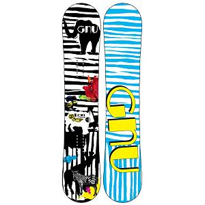 Snowboard Gnu B-MINI BTX Girls Snowboard - The GNU B-Mini is the snowboard for your local girl shredder. With a true twin flex and BTX it is the perfect blend for a youngster looking to lead by example through their riding. BTX combines Banana technology which is catch free fun and Magnetraction with provides the best edge control a snowboarder can ask for. Bananas are the perfect board for kids. They will learn faster, fall less and have way more fun. The GNU B-Mini is the board of choice for any young girl throwing it down all over the mountain while still having fun with there friends. . Skill Range: Intermediate - Advanced, Model Year: 2013, Product ID: 270943, Shipping Restriction: This item is not available for shipment outside of the United States., Gender: Girls, Skill Level: Intermediate, Warranty: One Year, Base Material: Extruded P-tex, Magnatraction: Yes, Hole Pattern: Standard 4 Hole, Construction Type: Sidewall Construction, Core Material: Wood, Rocker Type: BTX Banana Tech, Board Width: Regular, Pipe Oriented: No, Flex: Soft, Shape: Twin, Rocker Profile: Rocker, Special Features: Magnetraction, Stance Setback: Centered, Stance Width: 17-22in, Waist Width: 251mm(@125cm), Recommended Use: All-Mountain Freestyle, Core Name: A.5 Sustainable Core, Base Name: Extruded Base, Actual Turn Radius @ Specified Length: 7m(@125cm) - $199.95